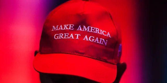A MAGA hat worn during the Western Conservative Summit in 2019 (Photo by AAron Ontiveroz/MediaNews Group/The Denver Post via Getty Images)