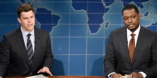'Saturday Night Live' host Michael Che commented on co-host Colin Jost's marriage to Scarlett Johansson.
