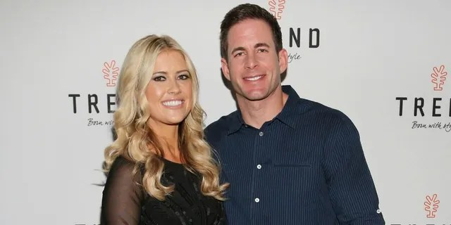 """Christina Haack with her first husband Tarek El Moussa. They still film """"Flip or Flop"""" together on HGTV."""