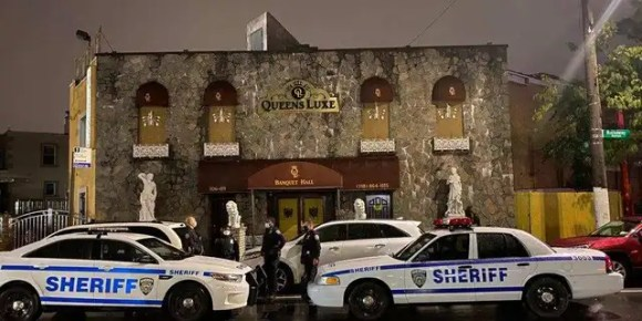 The Queens Luxe catering hall in New York City was the scene of a coronavirus enforcement action over the weekend.