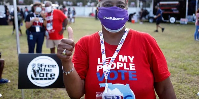 Participants at voting parades on Saturday, Oct. 24, 2020, in Orlando, Fla.  (Octavio Jones/AP Images for #walkthevote)