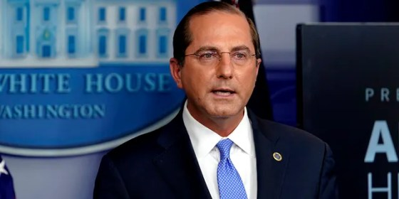 Secretary of Health and Human Services Alex Azar speaks at a press conference in the White House briefing room in Washington, Friday, Nov.20, 2020. (AP Photo / Susan Walsh)