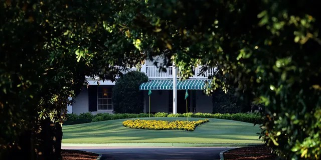 In this April 6, 2020, file photo, Augusta National Golf Club is shown on what would've been the first practice round for the Masters, Monday, in Augusta, Ga. Because of the pandemic, the Masters is being held in November (Nov. 12-15) for the first time. (Curtis Compton/Atlanta Journal-Constitution via AP, File)