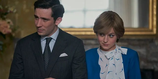 Josh O'Connor and Emma Corrin star as Prince Charles and Princess Diana in 'The Crown'.