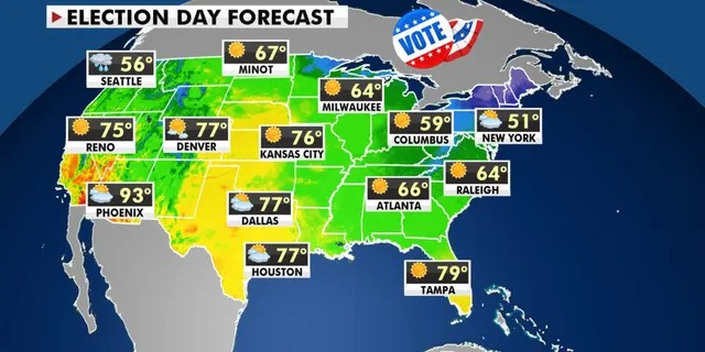 The national forecast for Election Day, Nov. 3, 2020.