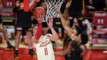 No. 14 Wisconsin weathers Maryland comeback in 61-55 win
