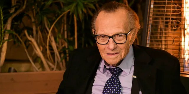 Larry King's will states that he wishes to share his wealth among his five children.  Shaun has sued the will.  (Getty Images)