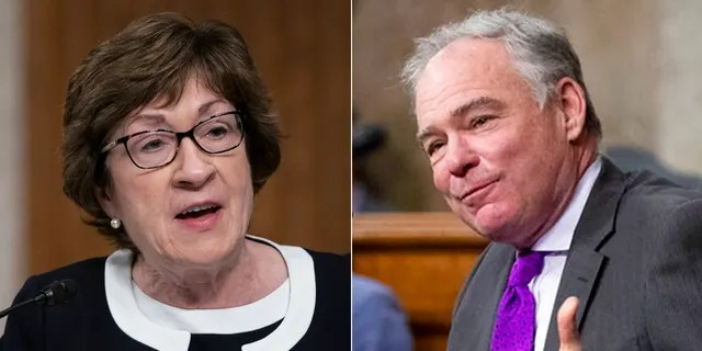 Sen. Susan Collins, R-Money, and Sen. Tim Kaine, D-Va., Proposed a censored motion against former President Trump as an alternative to impeachment.