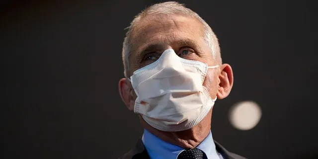 In this Dec. 22, 2020, file photo, Dr. Anthony Fauci, director of the National Institute of Allergy and Infectious Diseases, speaks before receiving his first dose of the COVID-19 vaccine at the National Institutes of Health, in Bethesda, Md.(AP Photo/Patrick Semansky, Pool, File)