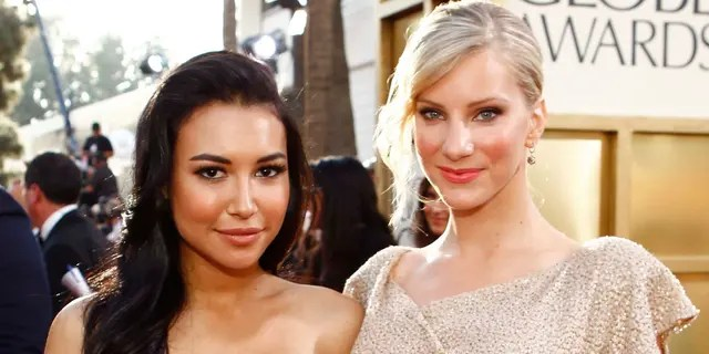 Naya Rivera (left) received tributes on her birthday from several co-stars, including Heather Morris (right). (Photo by Trae Patton/NBCU Photo Bank/NBCUniversal via Getty Images via Getty Images)