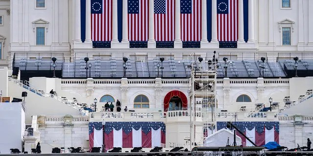 The Capitol as security preparations continue leading up to President-elect Joe Biden's inauguration, in Washington, Sunday, Jan. 17, 2021. (AP Photo/J. Scott Applewhite)