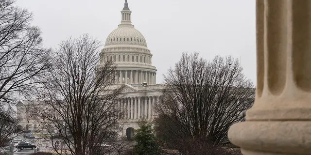 The Capitol is seen in Washington, Tuesday, Jan. 26, 2021.
