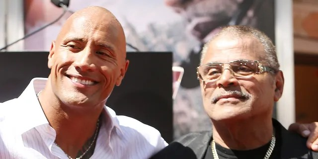 "Dwayne ""The Rock"" Johnson, said, had an ""incredibly complex"" relationship with his father, WWE star Rocky Johnson.  (Photo by Michael Tran / FilmMagic)"