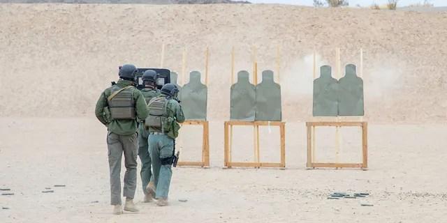 Marine Training at Marine Corps Air Ground Combat Center Twentine Palms.