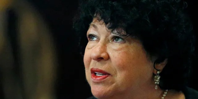U.S. Supreme Court Associate Justice Sonia Sotomayor, speaks at the Mississippi Book Festival in Jackson, Miss on Aug. 17, 2019. (AP Photo/Rogelio V. Solis)