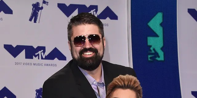 During happier times:  Andrew Glennon, left, and Amber Portwood attend the 2017 MTV Video Music Awards at The Forum on August 27, 2017, in Inglewood, Calif.