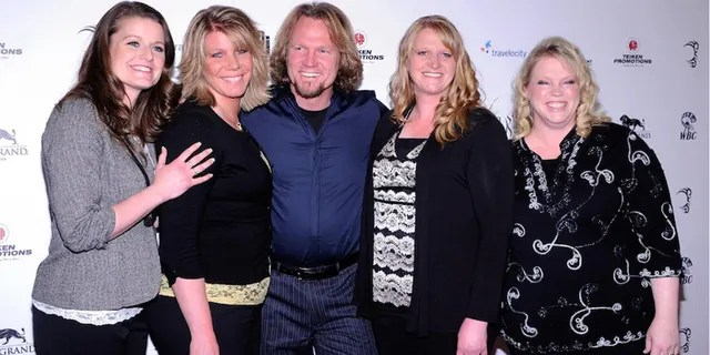 From left: Robyn Brown, Meri Brown, Kody Brown, Christine Brown and Janelle Brown from 'Sister Wives.' Meri Brown has been married to Kody Brown since 1990.