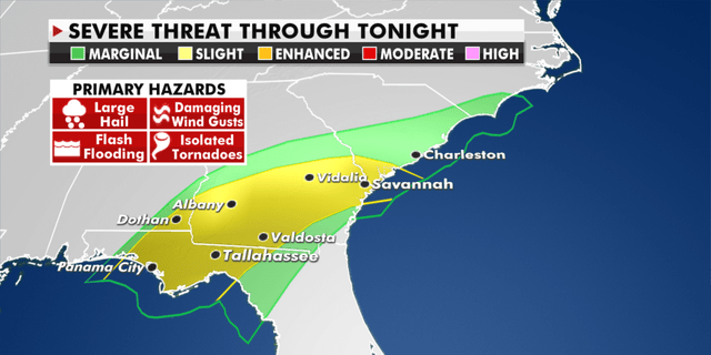 Threat of severe weather in the southeast from Thursday.  (Granthshala News)