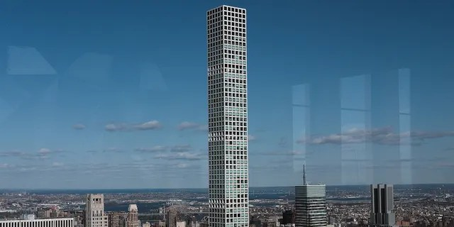 An exterior shot of 432 Park Avenue in New York, New York.