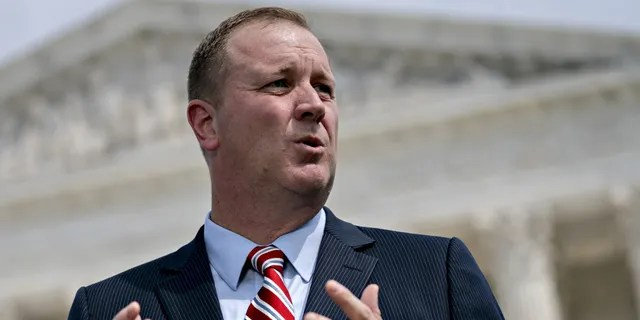 Missouri Attorney General Eric Schmitt speaks during a news conference in Washington, D.C., Sept. 9, 2019. (Getty Images)