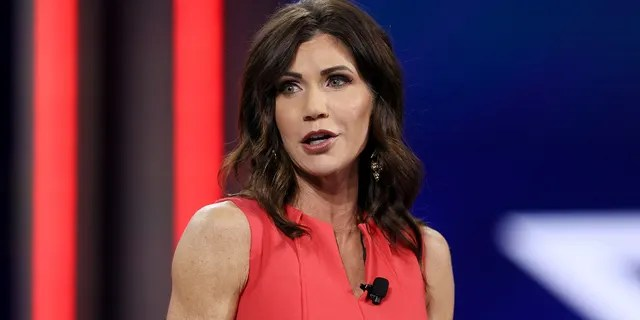 South Dakota Gov. Kristi Noem addresses the Conservative Political Action Conference held in the Hyatt Regency on February 27, 2021, in Orlando, Florida. (Photo by Joe Raedle/Getty Images)