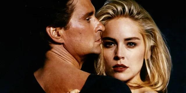 Michael Douglas and Sharon Stone in 'Basic Instinct.'