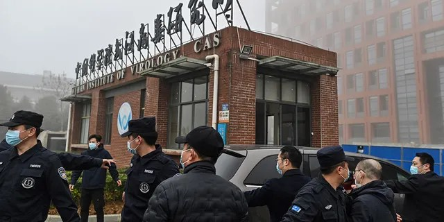 Members of the World Health Organization (WHO) team investigating the origins of the COVID-19 coronavirus arrive at the Wuhan Institute of Virology in Wuhan, in China's central Hubei province on Feb. 3, 2021.