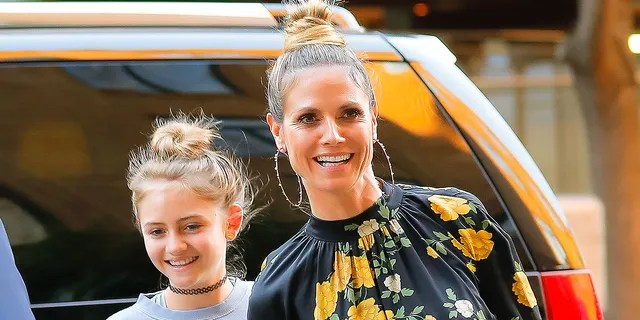 Heidi Klum and her daughter Leni in 2017. Leni posed for the cover of Glamour Germany 20 years after her mother was the magazine's first-ever cover model. (Gotham/GC Images)