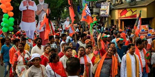 April 5, 2021: India's election authorities announced voting in five states starting massive campaign rallies and roadshows by Prime Minister Narendra Modi, Home Minister Amit Shah as well as opposition politicians with tens of thousands of supporters with no masks and social distancing.
