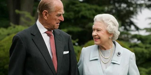 Queen Elizabeth II and Prince Philip, The Duke of Edinburgh return to Broadlands to mark their Diamond Wedding Anniversary on November 20, 2007.