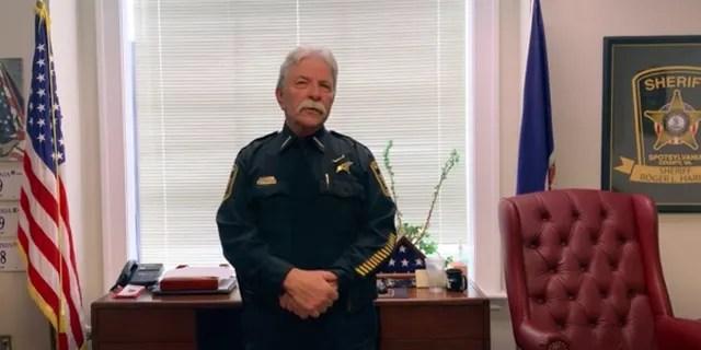 Spotsylvania County Sheriff Roger Harris explaining the Body camera footage and 911 audio released late Friday. (Spotsylvania County Sheriff's Office via AP)