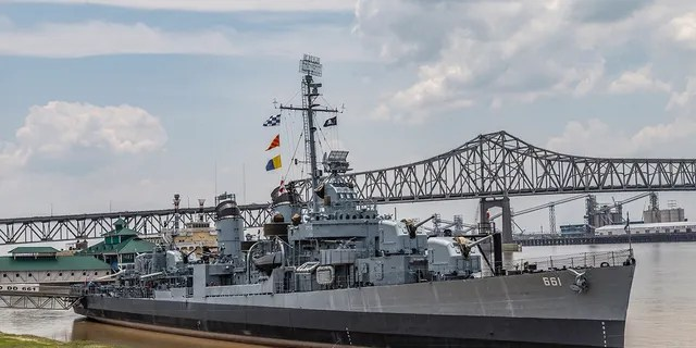 Fletcher Class Destroyer Museum Ship in Baton Rouge, Louisiana.