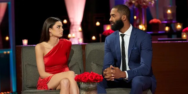 """Rachael Kirkconnell and Matt Jamesrevealed they went their separate ways when they appeared on """"After the Final Rose"""" in March 2021 with special host Emmanuel Acho, who is a retired NFL player and bestselling author of """"Uncomfortable Conversations with a Black Man."""""""