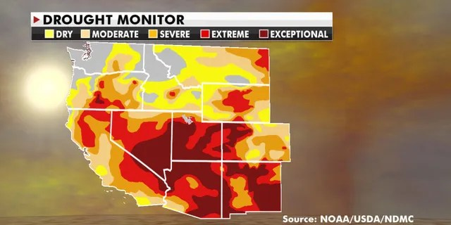 Drought conditions are expected to remain high in parts of the Southwest and Great Basin this week.