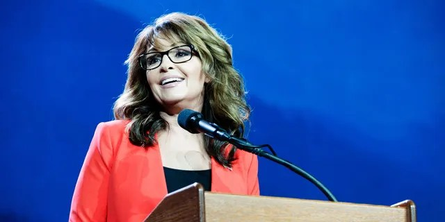 Former Alaska Governor and 2008 Republican party Vice Presidential nominee Sarah Palin.  (Photo credit should read JASON CONNOLLY/AFP via Getty Images)