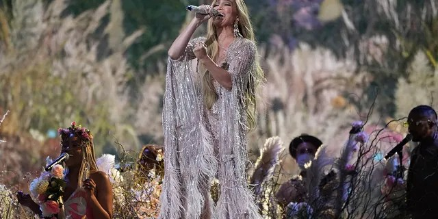 """Jennifer Lopez performs at """"Vax Live: The Concert to Reunite the World"""" on Sunday, May 2, 2021, at SoFi Stadium in Inglewood, Calif."""