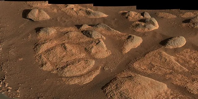 NASA's Perseverance rover viewed these rocks with its Mastcam-Z imager on April 27, 2021.