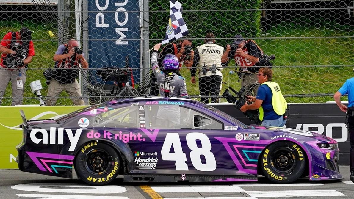 NASCAR: Flat tire foils Kyle Larson's bid for fourth straight win as Alex  Bowman takes Pocono   Fox News