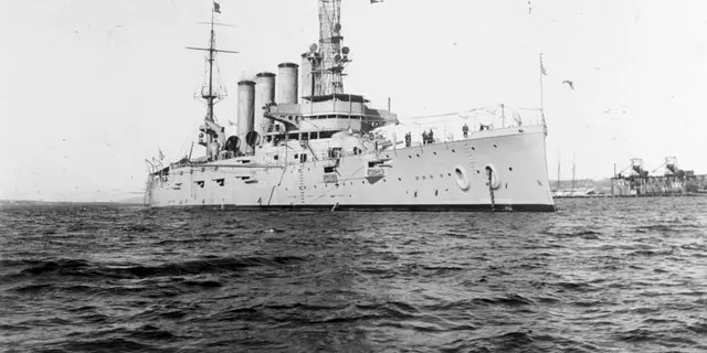 In this Jan. 28, 1915, file photo, made available by the U.S. Naval History and Heritage Command shows the USS San Diego while serving as flagship of the Pacific Fleet. Asian Americans, veterans and civilians in the U.S. and the Philippines are campaigning to name a Navy warship for a Filipino sailor on the USS San Diego who bravely rescued two crew members when their ship caught fire more than century ago, earning him a prestigious and rare Medal of Honor. (U.S. Naval History and Heritage Command via AP, File)
