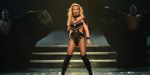 Britney Spears performs in Las Vegas in 2016.