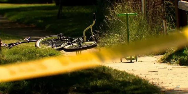 A 6-year-old boy is recovering after he was shot in the arm while getting his bike from in front of his neighbor's house.