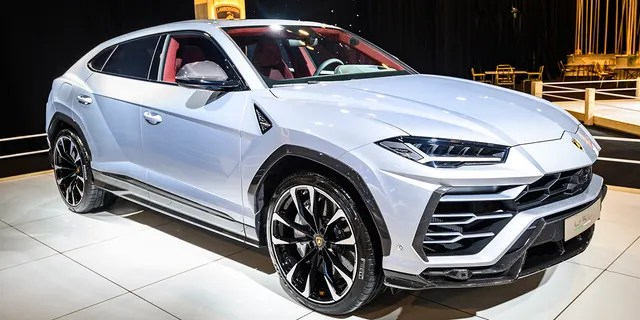BRUSSELS, BELGIUM - JANUARY 8: Lamborghini Urus luxury performance SUV car on display at Brussels Expo on January 8, 2020 in Brussels, Belgium. The Urus is powered by a 641 hp4.0 L twin-turbocharged V8 and is the second SUV car produced by Lamborghini. (Photo by Sjoerd van der Wal/Getty Images)