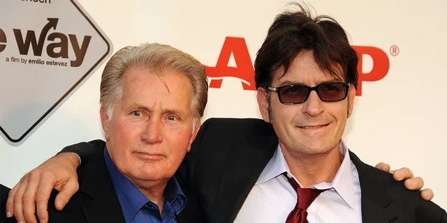 Martin Sheen (left) is proud of his son Charlie Sheen.