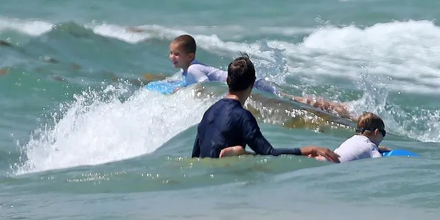 Kushner and his sons Theodore and Joseph appear to be enjoying their new life in Florida.