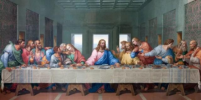 Mosaic of Last supper of Jesus by Giacomo Raffaelli from year 1816 as a copy of Leonardo da Vinci's work ass seen on Jan. 15, 2013 in Vienna.