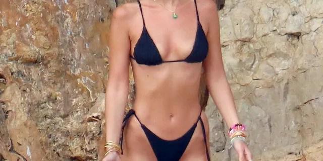 Model Bella Hadid hit Cannes with boyfriend Marc Kalman.