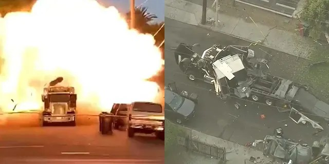 A cache of illegal fireworks seized at a South Los Angeles home exploded unexpectedly Wednesday.