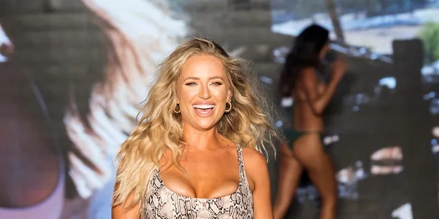 Kristen Louelle Gaffney walks the runway during the 2021 Sports Illustrated Swimsuit Runway Show during Paraiso Miami Beach at Mondrian South Beach on July 10, 2021 in Miami, Florida.