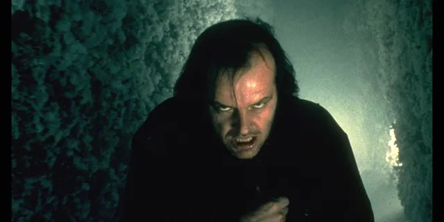 """Jack Torrance (Jack Nicholson) chases his son Danny through the Overlook Hotel's snowy hedge maze at the end of """"The Shining."""" (Getty Images)"""