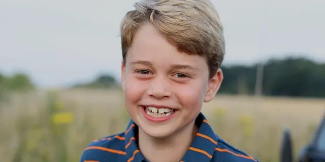 This July 2021 photo issued by Kensington Palace on Wednesday July 21, 2021, shows Prince George whose eighth birthday is on Thursday July 22, 2021, in Norfolk, England.